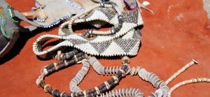 Ostrich shells jewelry